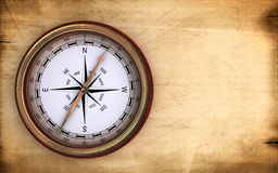 Vintage compass. On an old paper Royalty Free Stock Photography