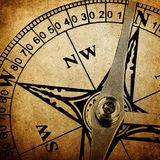 Vintage compass background Royalty Free Stock Images