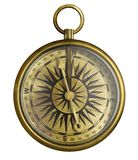 Vintage compass 3d illustration isolated on white vector illustration