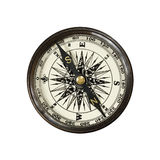 Vintage compass  isolated on white Royalty Free Stock Images