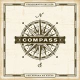 Vintage Compass Label Stock Images