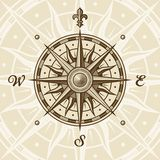 Vintage compass rose vector illustration