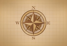 Vintage Compass Rose Royalty Free Stock Photography