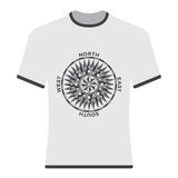 Vintage compass rose t-shirt. Stock Photography