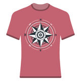 Vintage compass rose t-shirt. Stock Image