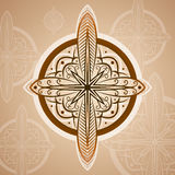 Vintage compass roses, icon and design element. vector nautical label. Royalty Free Stock Photos