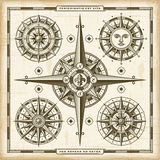 Vintage Compass Roses Set Royalty Free Stock Photography