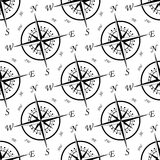 Vintage compass seamless pattern Stock Image