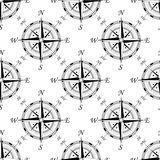 Vintage compass seamless pattern Royalty Free Stock Photo