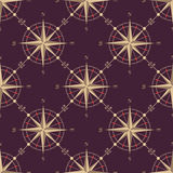 Vintage compass seamless pattern Stock Images