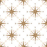 Vintage compass seamless pattern Royalty Free Stock Photography