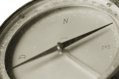 A vintage compass used for navigation. In the mountains or on sea royalty free stock photography