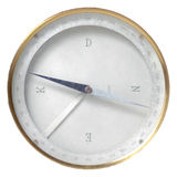 A vintage compass used for navigation isolated on. White background used for navigation Royalty Free Stock Photography