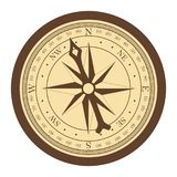 Vintage compass on whie background vector course stock illustration