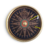 Vintage compass on white background Stock Photography