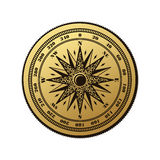 Vintage compass wind rose symbol Royalty Free Stock Photography