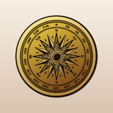 Vintage compass wind rose symbol Stock Photos