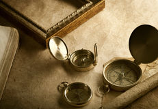 Vintage compasses Royalty Free Stock Photography