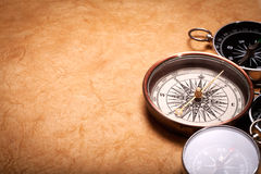 Vintage compasses Stock Photography