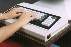 Vintage Computer Keyboard Royalty Free Stock Photos