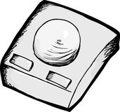 Vintage Computer Trackball Royalty Free Stock Images