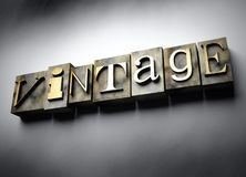 Vintage concept, retro letterpress text Stock Photography