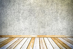 Vintage concrete wall and wooden floor Stock Photography