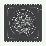 Vintage condom labels, logo or badge with hand drawn typography design element. Do it with passion or not at all in circle Royalty Free Stock Image