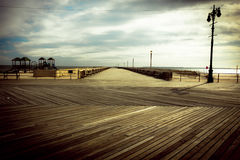 Vintage Coney Island Boardwalk Stock Photo