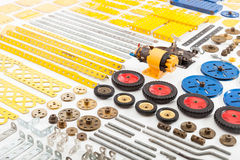 Vintage construction set parts Royalty Free Stock Photography