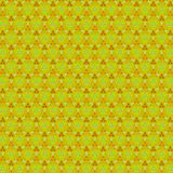 Vintage continuous pattern on yellow background for wallpaper or textile print. Classic ornament. Floral logo. Vintage continuous pattern on yellow background royalty free stock photo