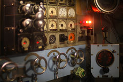 Vintage control room Stock Photography