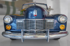 Vintage Convertible. A blue luxury convertible automobile from the early 1940s Stock Photos