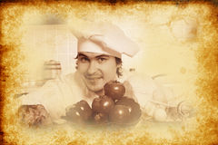 Vintage cook Royalty Free Stock Images