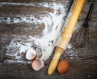 Vintage cooking background Stock Photos