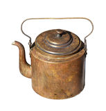 Vintage copper kettle Royalty Free Stock Images