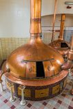 Vintage copper kettle - brewery in Belgium Stock Photos