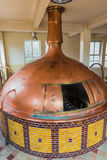 Vintage copper kettle - brewery in Belgium. Vintage copper kettle in brewery - Belgium Royalty Free Stock Image
