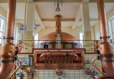 Vintage copper kettle - brewery in Belgium Stock Photo
