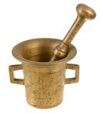 Vintage copper mortar Royalty Free Stock Image