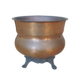 Vintage copper pot isolated Royalty Free Stock Photography
