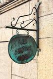 Vintage copper sign Stock Photos