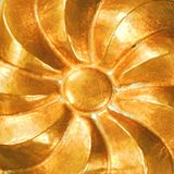 Vintage copper swirl Stock Photography