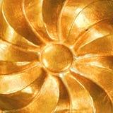Vintage copper swirl. Pinwheel ribbon swirl antique copper mould pattern Stock Photography