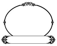 Vintage Copy Box. Black and white vintage copy box or sign hanging with ornate floral ornaments for an old town downtown shop with copy space and scroll work vector illustration