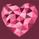 Vintage cor-de-rosa bonito da forma do coração da borda Imagem de Stock