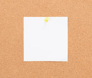 Vintage cork board with note paper Royalty Free Stock Image