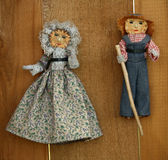 Vintage Cornhusk Dolls Stock Photography
