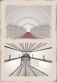 Vintage corridor design Stock Image