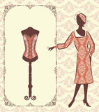 Vintage corset with beautiful ornament Stock Image